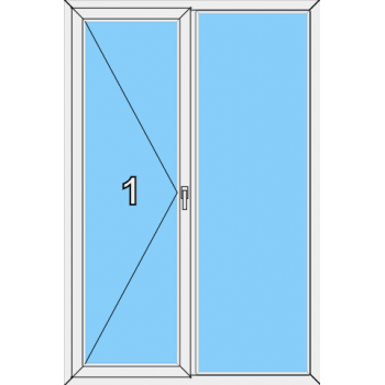 Балконная дверь Brusbox Aero Тип 0013