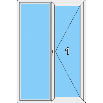 Балконная дверь Brusbox Super Aero Тип 0014