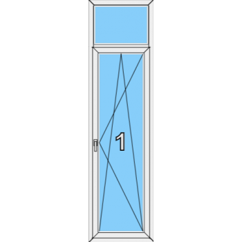 Балконная дверь Brusbox 70-6 Тип 0007