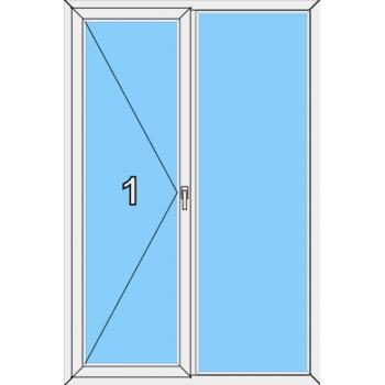 Балконная дверь Brusbox 70-6 Тип 0013