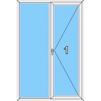 Балконная дверь Brusbox 70-6 Тип 0014