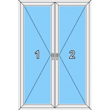 Балконная дверь Brusbox 70-6 Тип 0015