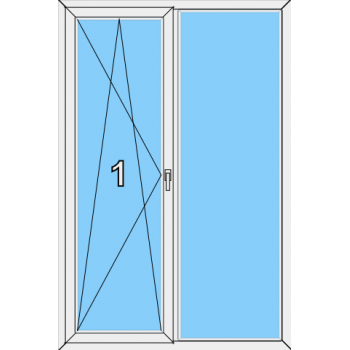 Балконная дверь Brusbox 70-6 Тип 0016