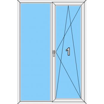 Балконная дверь Brusbox 70-6 Тип 0017