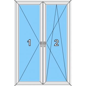 Балконная дверь Brusbox 70-6 Тип 0018