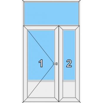 Входная дверь Rehau 70 мм Тип 0008