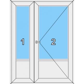 Входная дверь Brusbox 60 мм Тип 0003