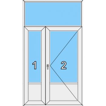Входная дверь Brusbox 60 мм Тип 0007