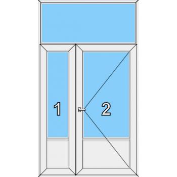 Входная дверь Brusbox 70 мм Тип 0007