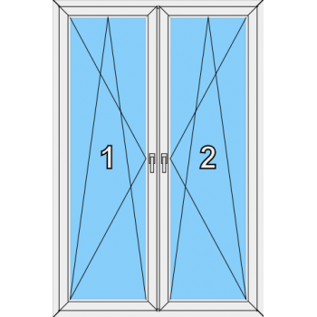 Балконная дверь Сиал КП 45 Тип 0020