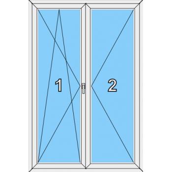 Балконная дверь Сиал КП 45 Тип 0022 Штульп