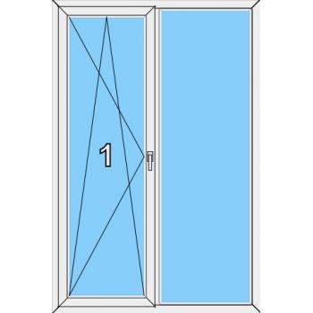 Балконная дверь Сиал КПТ 60 Тип 0016