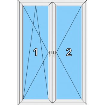 Балконная дверь Сиал КПТ 60 Тип 0019