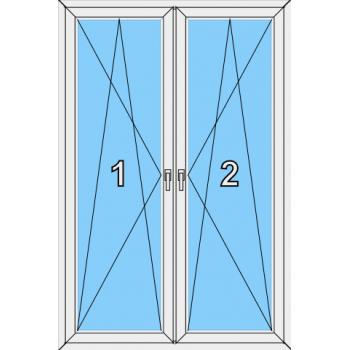 Балконная дверь Сиал КПТ 60 Тип 0020