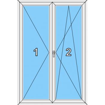Балконная дверь Сиал КПТ 60 Тип 0021 Штульп
