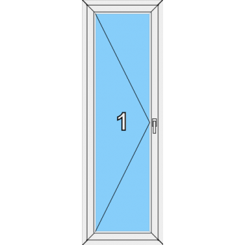 Балконная дверь Rehau Blitz Тип 0002